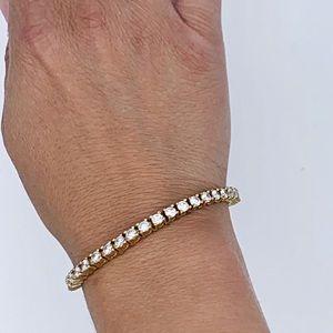 Classic Diamond Crystal Tennis bracelet 20ct